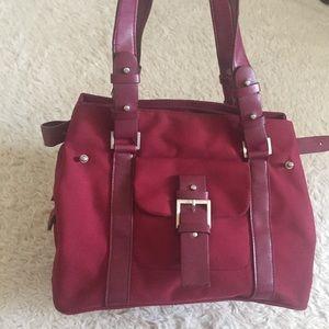 Large maroon deep red purse